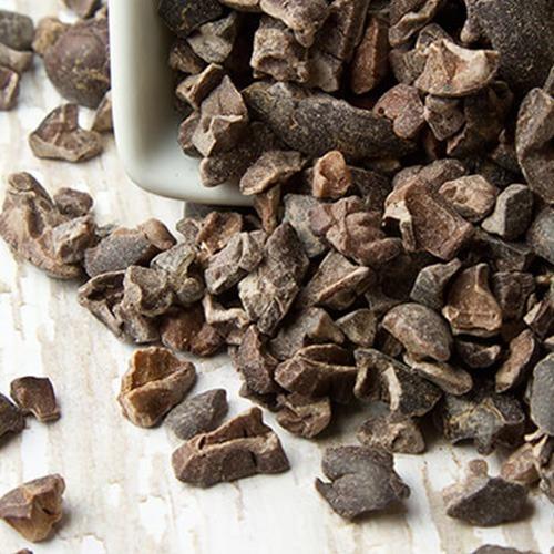 circular cocoa nibs
