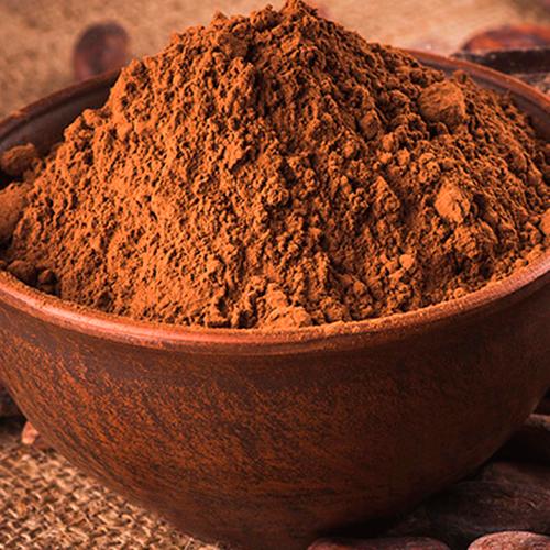 circular cocoa powder