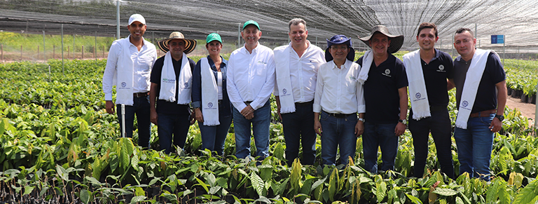 "Compañía Nacional de Chocolates, in partnership with Agrosavia, inaugurated its ""Cocoa Nursery for Peace"" in Codazzi, Cesar"