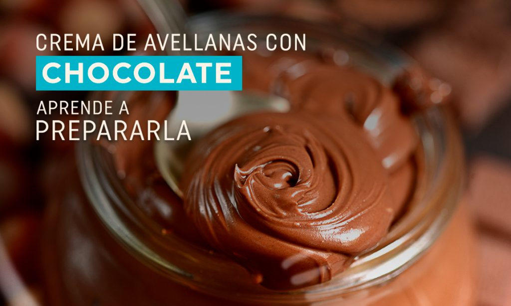 Crema de avellanas con chocolate